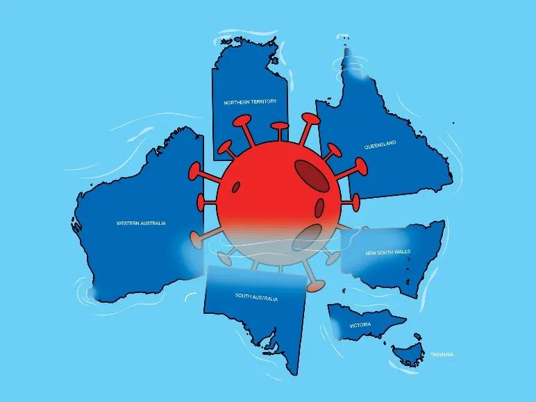 澳洲各州疫情